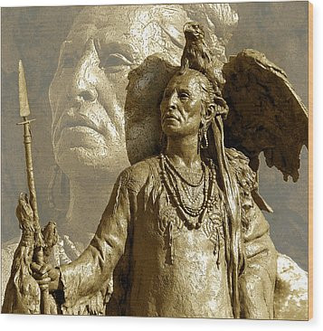 Wood Print featuring the photograph The Chief by Ginny Schmidt