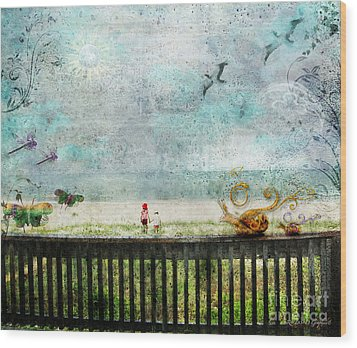 Wood Print featuring the digital art The Child In Us by Rhonda Strickland