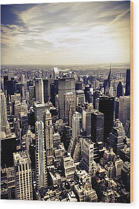 The Chrysler Building And Skyscrapers Of New York City Wood Print
