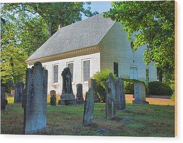 The Church Cemetery Wood Print by Steven Ainsworth