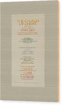 The Church Of Christ In Every Age II Wood Print by Judy Dodds