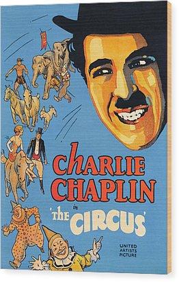 The Circus, Charlie Chaplin, 1928 Wood Print by Everett