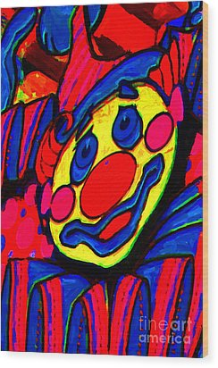 The Circus Circus Clown Wood Print by Wingsdomain Art and Photography