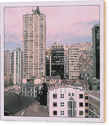 The City Of La Paz Wood Print