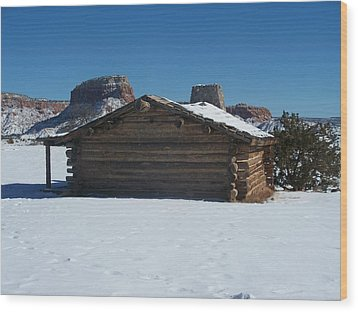 The City Slickers Cabin Wood Print by FeVa  Fotos