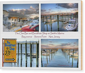 The Clam Bar And Breakfast Shop Wood Print by John Loreaux