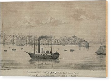 The Clermont Robert Fultons First Wood Print by Everett