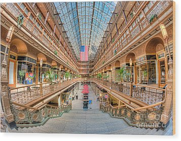 The Cleveland Arcade IIi Wood Print by Clarence Holmes