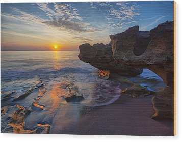 The Cliffs Of Florida Wood Print by Claudia Domenig