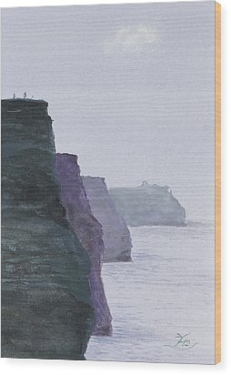 The Cliffs Of Moher Wood Print