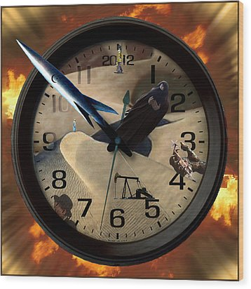 The Clock Is Ticking Wood Print by E  Kraizberg