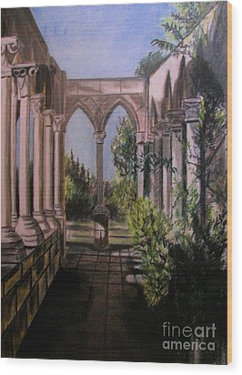 The Cloisters Colonade Wood Print