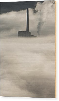 The Cloud Factory Wood Print by Andy Astbury