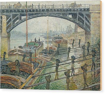 The Coal Workers Wood Print by Claude Monet