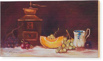 The Coffee Grinder Still Life Wood Print