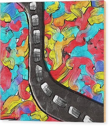 The Color Highway Wood Print by Alec Drake