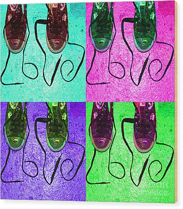 The Color Of Love Wood Print by Paul Ward