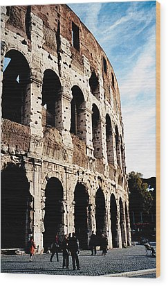 The Colosseum Wood Print by Donna Proctor