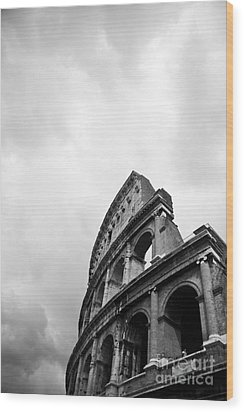 The Colosseum In Rome Wood Print by Steven Gray