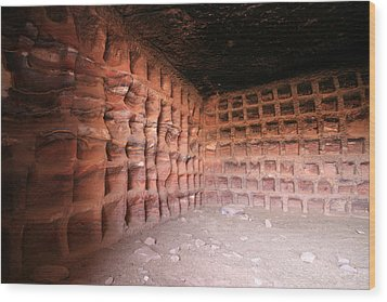 The Columbarium, Al Habis, Petra Wood Print by Joe & Clair Carnegie / Libyan Soup