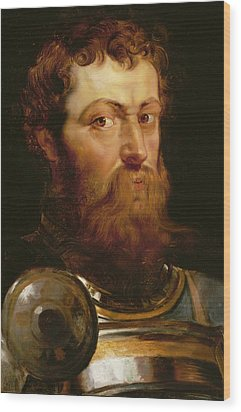 The Commander's Head  Wood Print by Peter Paul Rubens