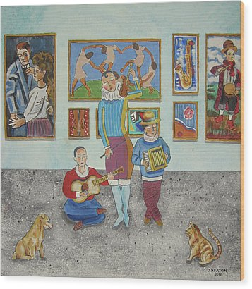 The Concert Wood Print by John Keaton