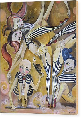 The Contortionists Wood Print by Jenna Fournier