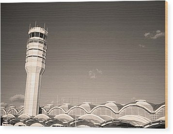 The Control Tower And Wood Print by Stephen Alvarez