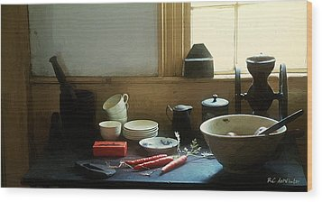The Cook's Table Wood Print by RC deWinter