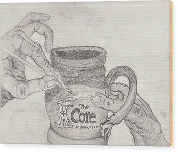 The Core Mug Wood Print by TK Mayfield