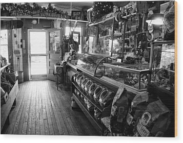 The Country Store Wood Print by Jeanne Sheridan