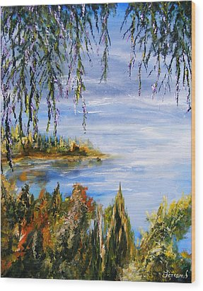 Wood Print featuring the painting The Cove by Karen  Ferrand Carroll