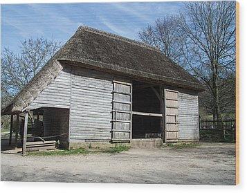 The Cowfold Barn Wood Print by Dawn OConnor