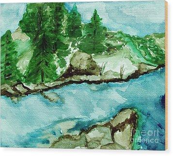 The Creek Bend Wood Print by Marsha Heiken