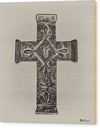 The Cross Wood Print by Bill Cannon