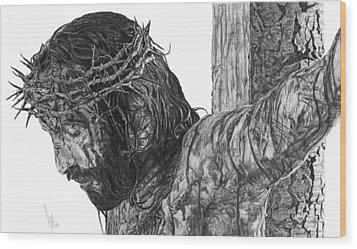 The Cross Wood Print by Bobby Shaw