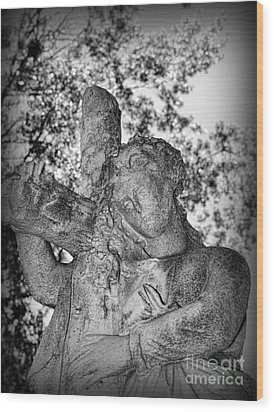 The Cross I Bear Wood Print by Paul Ward