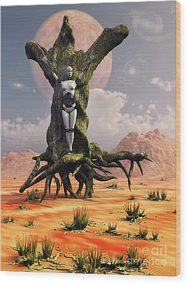 The Crucifixion Of A Messianic Martyr Wood Print by Mark Stevenson