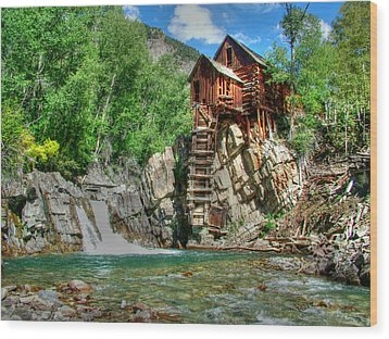 The Crystal Mill 1 Wood Print by Ken Smith