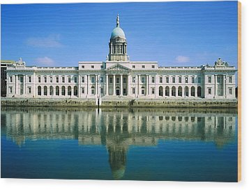 The Custom House, River Liffey, Dublin Wood Print by The Irish Image Collection