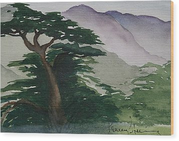 The Cypress Tree Wood Print