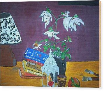 The Dahlia Tree Wood Print by Julie Butterworth