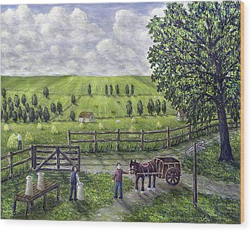 The Dairy Farm Wood Print by Ronald Haber