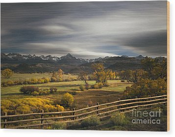 The Dallas Divide Wood Print by Keith Kapple