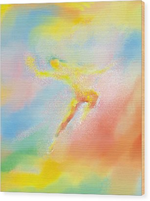 Wood Print featuring the painting The Dance by Larry Cirigliano
