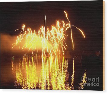 The Dance Of Fire And Water Wood Print by Sasha Marlay