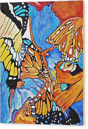 The Dance Of The Butterflies Wood Print by Sandra Lira