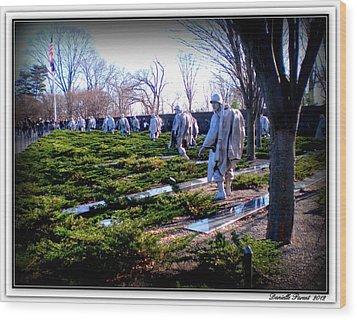 Wood Print featuring the photograph The Dc War Memorials Washington  D.c. by Danielle  Parent