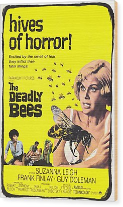 The Deadly Bees, From Left Katy Wild Wood Print by Everett