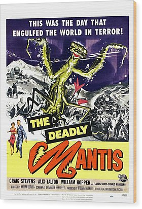 The Deadly Mantis, Bottom From Left Wood Print by Everett